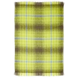 Bright Green Mohair Throw