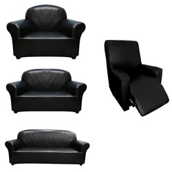 Black Faux Leather Sofa & Recliner Covers