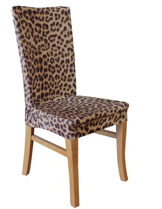 Leopard Dining Chair Cover