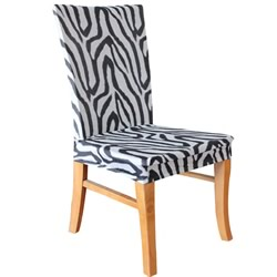 Zebra Dining Chair Cover