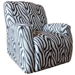 Zebra Recliner Cover
