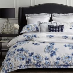 Floral Navy Quilt Cover Set