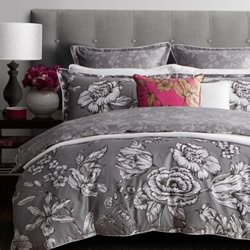 Vibrance Silver Quilt Cover Set