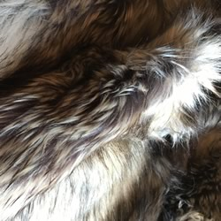Luxe Faux Fur Charcoal Throw