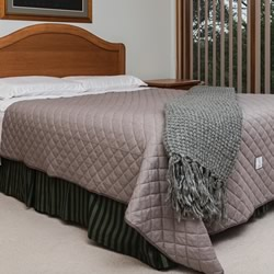 Quilted Reversible Two Tone Blanket