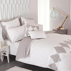 Argyle White Quilt Cover Set