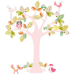 Enchanted Pink Tree Stickers