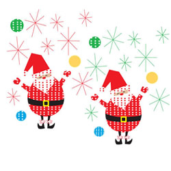 Happy Santa Wall Stickers