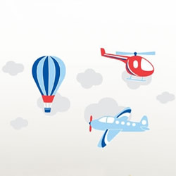 Air Transport Wall Decals