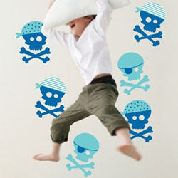 Blue Pirates Wall Decals