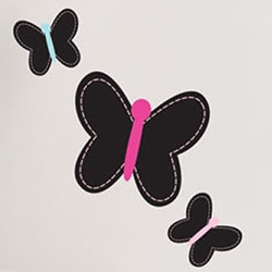 Chalkboard Butterflies Wall Decal