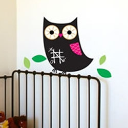 Chalkboard Owl Wall Decal
