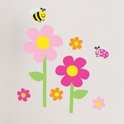 Flower Garden Wall Decals