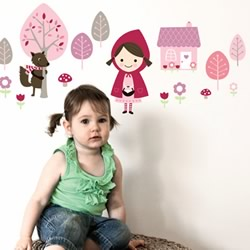 Little Red Wall Decals