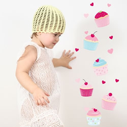 Sweet Cupcakes Wall Decals