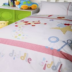 Hey Diddle Diddle Quilt Cover Set