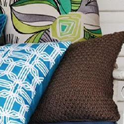 Knit Taupe Cushions