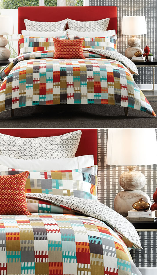 Modern geometric designs from Cotton House and Harlequin